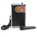 Громкоговоритель с радио микрофоном 100 Вт-200 Вт с USB и SD на АКБ.